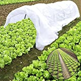 RTWAY 10FT Grow Tunnel, Mini Greenhouse, Tunnel Kits 0.9oz Row Cover and 6 Pcs Rust-free Tunnel Hoops Plant Cover for Frost Protection