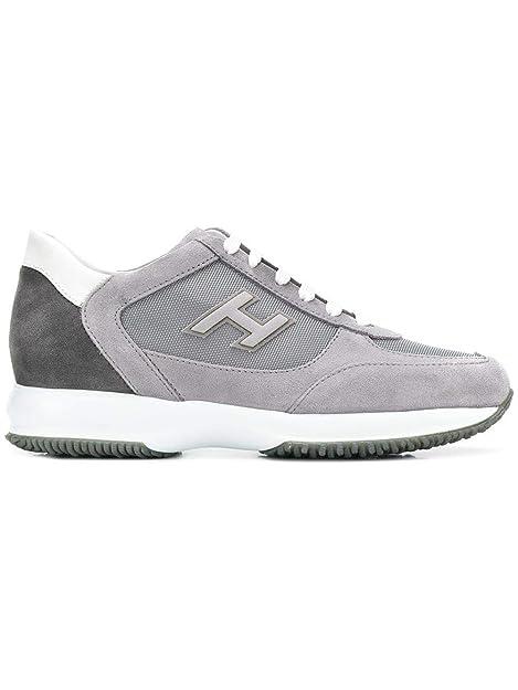 Hogan Hombre HXM00N0Q102JGF489L Gris Cuero Zapatillas: Amazon.es: Zapatos y complementos