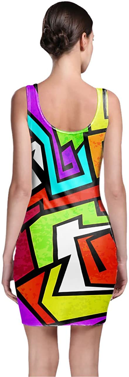 Queen of Cases Graffiti Bodycon Dress 3XL