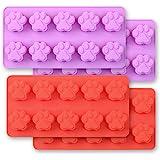 Cozihom Moldes de silicona en forma de pata de perro, 10 cavidades, grado alimenticio, aprobado por la FDA, sin BPA para choc