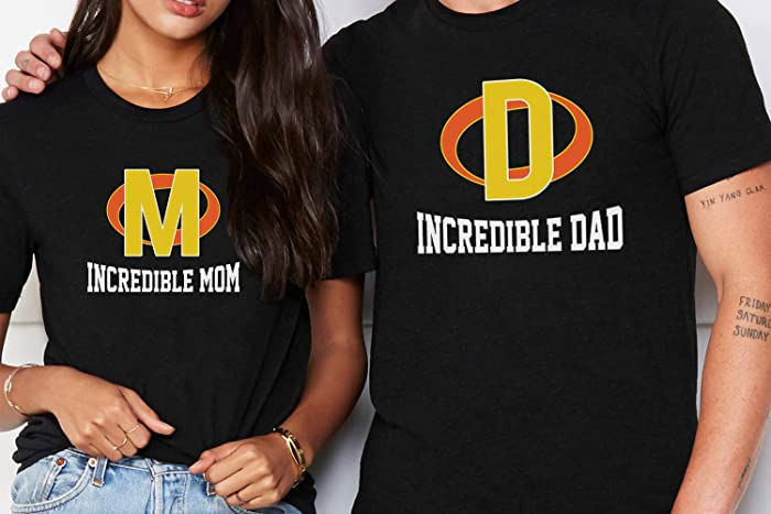 Incredible Mom Dad Matching Couple Family Parents Birthday Thanksgiving Christmas Gift Customized Handmade T Shirt Hoodie Long