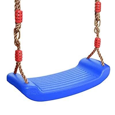 SK Studio Children's Swing Rainbow Big Curved Board,Rigid Child Swing,Outdoor Swing Seat Blue: Toys & Games