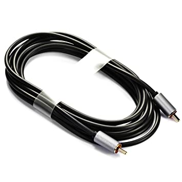 5.9// 9.85Ft 2 RCA Male to 2 RCA Male Audio Video Cable Gold Plated Phono Cable