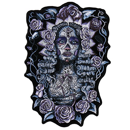 Hot Leathers, SANTA MUERTE, High Thread Embroidered Iron-On / Saw-On Rayon PATCH - 9