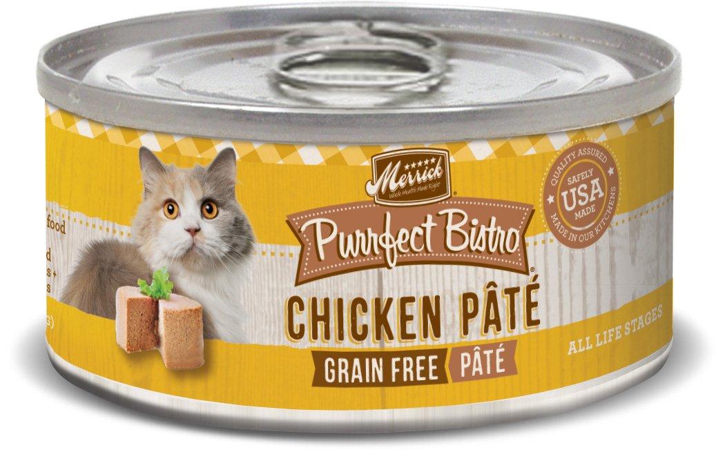 Merrick Purrfect Bistro Grain Free, 3 oz, Beef Pate, Pack of 24