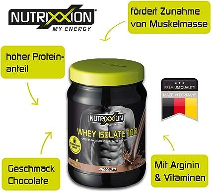 Nutrixxion PROTEINA SHAKE Whey Isolate (bajo en azúcar) Set 450g, FlavorName Schoko-Nocciola