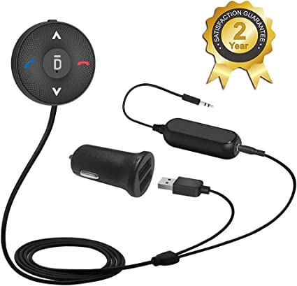 Wireless Audio Receiver with Dual Port USB Car Charger and Ground Loop Noise Isolator for Car with 3.5mm AUX Input Port Besign BK03 Bluetooth 4.1 Car Kit for Hands-Free Talking /& Music Streaming