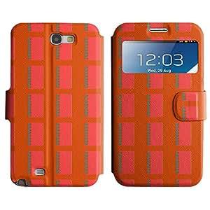 LEOCASE cuaderno lindo Funda Carcasa Cuero Tapa Case Para Samsung Galaxy Note 2 N7100 No.1007232