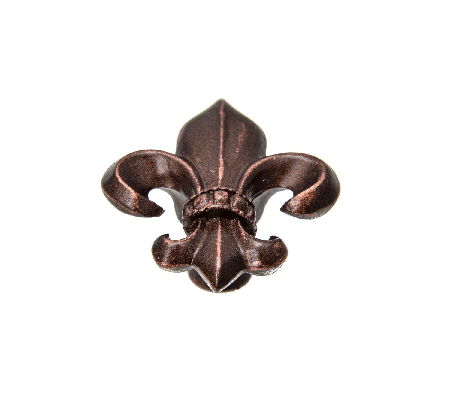 Carpe Diem Hardware Carpe Diem 597-22 Charlemagne Fleur de lys knob Oil Rubbed Bronze Oil Rubbed Bronze