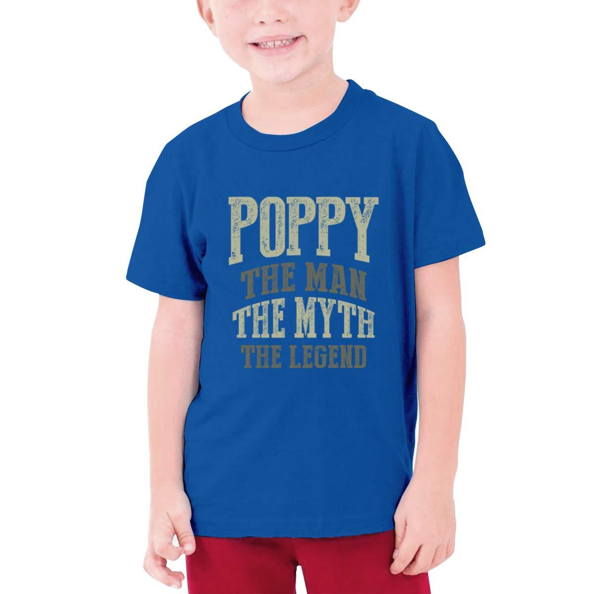 Poppy The Man The Myth The Legend Boys Short-Sleeved T-Shirt