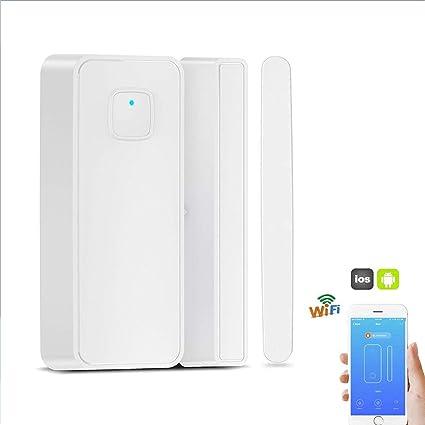 Thinkis Smart WiFi Door Sensor Wireless Window Security Magnetic Sensor Compatible Alexa Google IFTTT No Hub