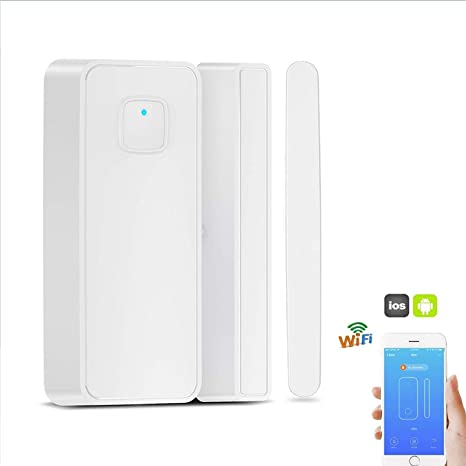 Thinkis WiFi Door and Window Sensor Smart Security Magnetic Sensor  Compatible Alexa Google IFTTT Phone App Wireless Ecurity Burglar Alert for  Home