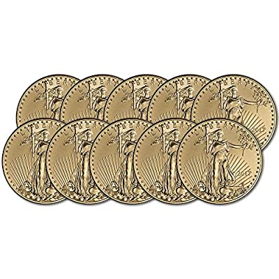 2017 American Gold Eagle (1 oz) Ten Coins Brilliant Uncirculated