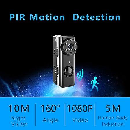 C-Xka Cámara Oculta de espía, cámara de vídeo de la cámara de vídeo de la Mini niñera de 1080P HD Cámara de Seguridad Oculta de la visión Nocturna y de la ...