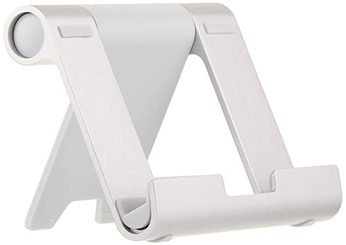 AmazonBasics Multi-Angle Portable Stand for Mobile Phones, Tablets and E-readers,White