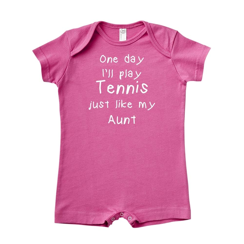 One Day Ill Play Tennis Just Like My Aunt Baby Romper