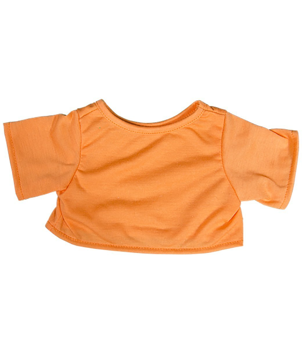 """Orange T-Shirt Teddy Bear Clothes Fits Most 14/""""-18/"""" Build-a-bear and Make Your O"""