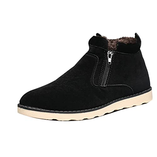 3e70b51e6ae Gaorui Mens Winter High Top Warm Suede Shoe Ankle Boot Casual Slip On Flat  Sneaker