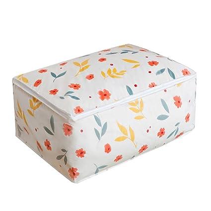 Caja de lona plegable para almacenamiento, Edredones lazo paquete de almacenamiento bolsas armario ropa bolsas