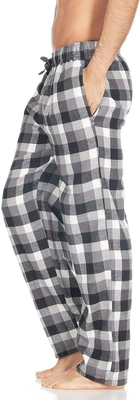 DARESAY Mens Cotton Super-Soft Flannel Plaid Pajama Pants//Lounge Bottoms with Pockets