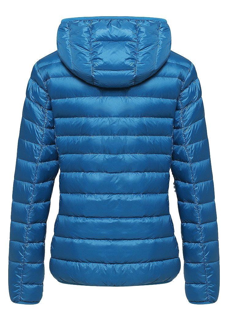 2d0e186a0 Wantdo Women's Hooded Packable Ultra Light Weight Short Down Jacket