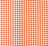 SheetWorld Fitted Pack N Play (Graco Square Playard) Sheet - Orange Gingham Check - Made In USA