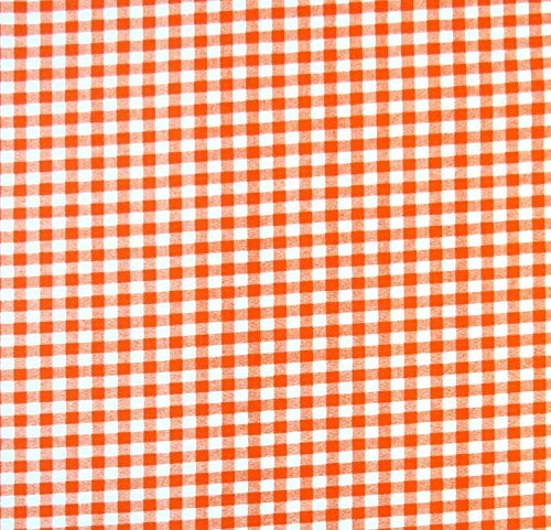 SheetWorld Fitted Pack N Play (Graco Square Playard) Sheet - Orange Gingham Check - Made In USA by SHEETWORLD.COM