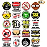 20-Pack Funny Hard Hat Stickers | Premium Quality Laminated Vinyl | Hilarious Joke Decal Sticker for Construction Worker…