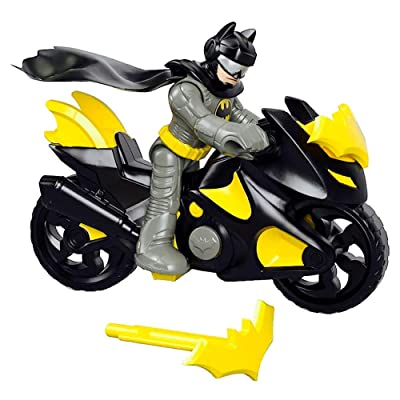 Imaginext DC Super Friends Batman & Batcycle Toy Figure Set: Toys & Games