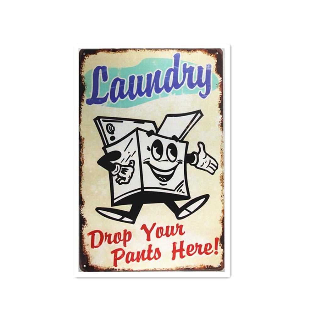 Laundry Póster de Pared Metal Creativo Placa Decorativa ...