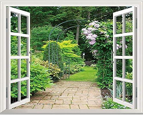 Pegatinas de ventana de paisaje pegatinas de pared de ventana ...