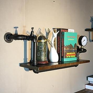 Wanddekorativ Wandregal Retro Industriewand Hngendes Regal Bcherregal Wohnzimmer Bar Wasserrohr Wandhalterung