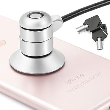 Cable de Seguridad bloqueo de portátil Candado Bloqueo con Llave de Seguridad para Teléfono Inteligente Ordenador Portátil iPad iPhone Mac Tabletas: ...