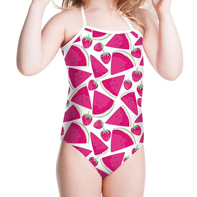 Swimwear Newest Kids Girl Fruit Swimwear Children 2 Pieces Swimsuit Girls With Watermelon Print Sling Swim Wear 2-6yrs Cheap Sales