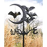 Design Toscano Crescent moon Vampire Bats Metal Weathervane: Garden Stake (Shown)