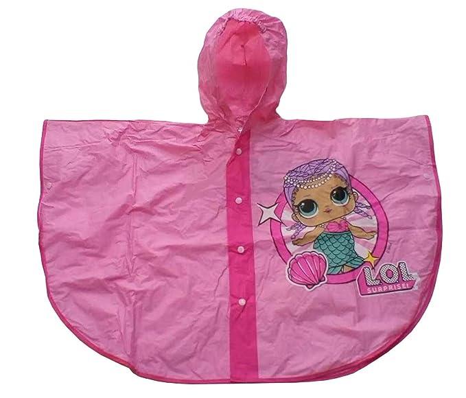 Mantella Impermeabile Pioggia PVC LOL Surprise Fucsia  Amazon.it   Abbigliamento 49e1f937fa3