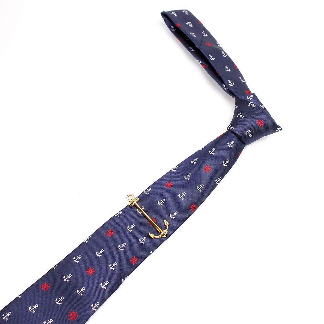 YUNHAO Mens Tie Clip Series Set Bicycle Taro Anchor Tie Set Blue Arrow Shape Suitable for Office Dating Party 1456.54cm Color : Demon, Size : Tie 6.51454cm