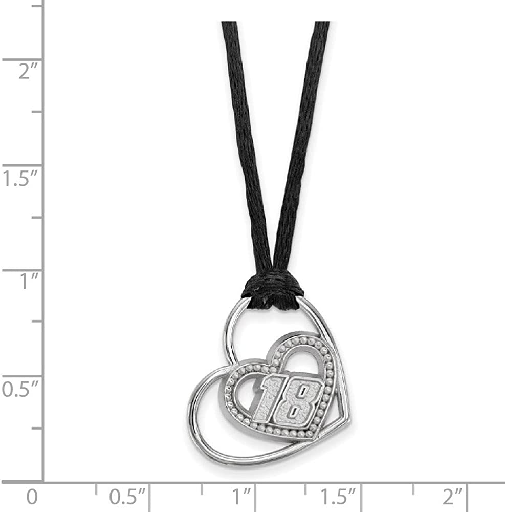 Solid 925 Sterling Silver Official PIERCED HEART PATTERN DRIVER Number # 18 Pendant Charm 18 Width = 20mm