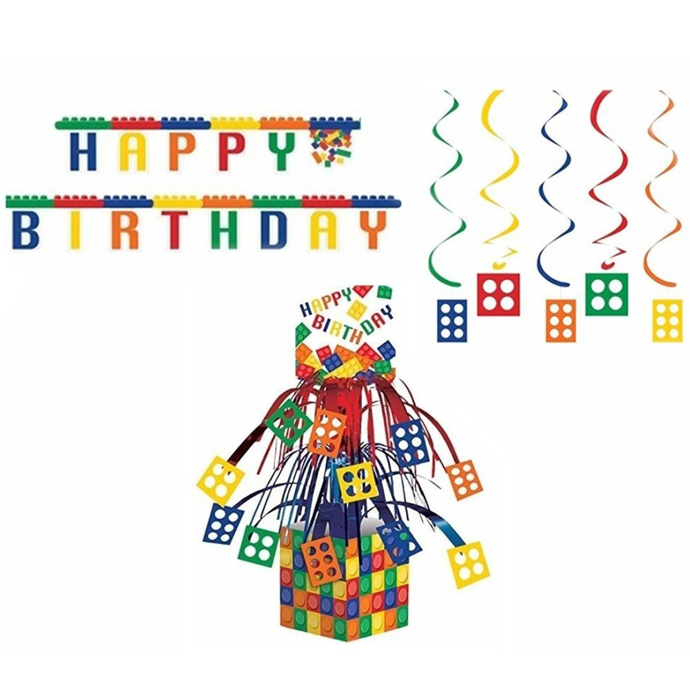 Block Party Decorations Pack Centerpiece Image 1