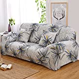 DIFEN Chair Loveseat Sofa Stretch Elastic Polyester Spandex Couch Slipcover 1 2 3 4 Seater (Loveseat (57''-70''), Style-E)
