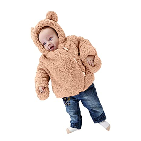 Toddler Baby Girls Boy Autumn Winter Hooded Coat Cloak Jacket Thick Warm Clothes