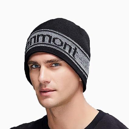 Gorros de punto Sombrero de otoño e Invierno Sombrero cálido Calle Hip Hop  Sombrero Negro Sombrero 4a6c498a4743
