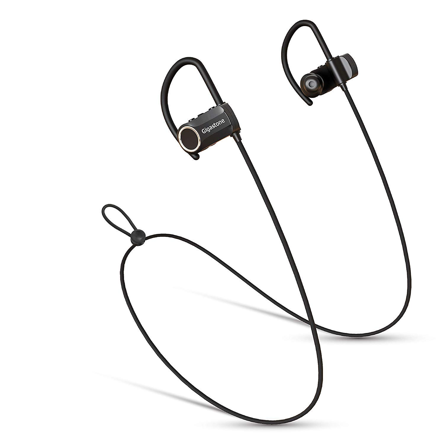 Gigastone Qualcomm CSR Wireless Sports Bluetooth Headphones, Super Long Hour Model, 12 Hour Playtime, HiFi Stereo Rich Bass IPX5 Water Resist Sweatproof Headsets Noise Cancelling Earbuds Fitness Gym