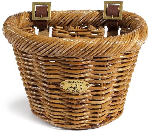 Nantucket Bike Basket Co Cisco Collection Child D-Shape Bike Basket (Honey)