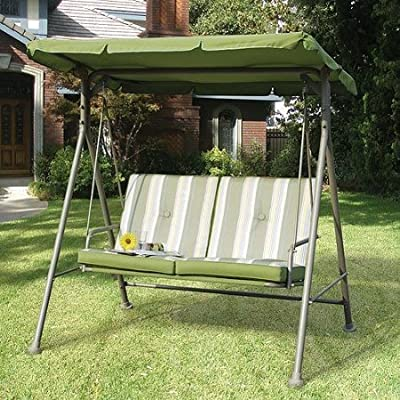 Garden Winds Replacement Canopy Top Cover for Walmart's Double Seat Cushion Swing : Outdoor Canopies : Garden & Outdoor