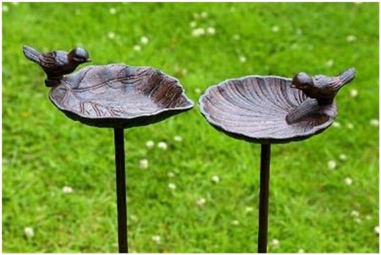 Bebedero, Baño para Pájaros, de Hierro Fundido, 1 pieza, 20 cm x 14 cm x 98 cm