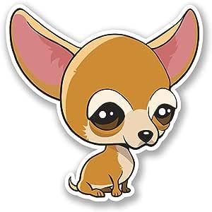 2 x Chihuahua perro de dibujos animados vinilo Sticker