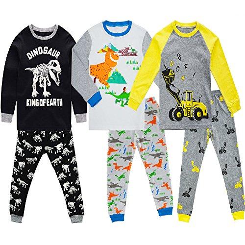 Toddler Boys Pyjamas 100 Cotton Long Snuggle Fit Sleepwear 2pcs Pyjama Set PJ 2-7 Years