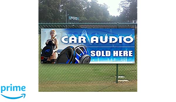 Store Flag, New Advertising Many Sizes Available CAR Audio Now Open Extra Large 13 oz Heavy Duty Vinyl Banner Sign with Metal Grommets