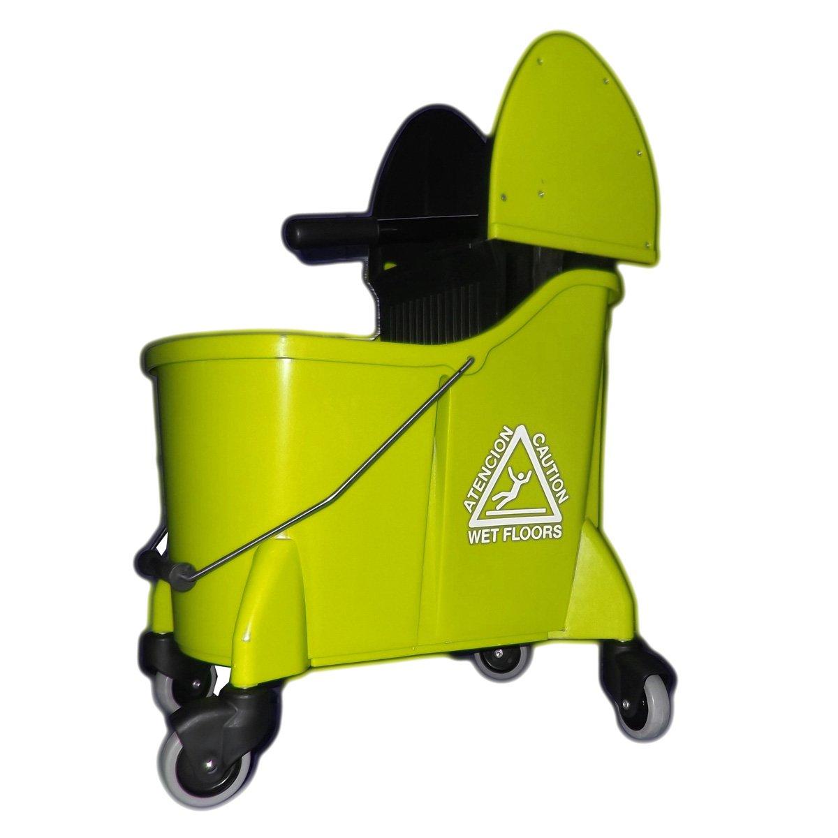 UltraSource Mop Bucket Combo with Wringer, 35 quart, Yellow